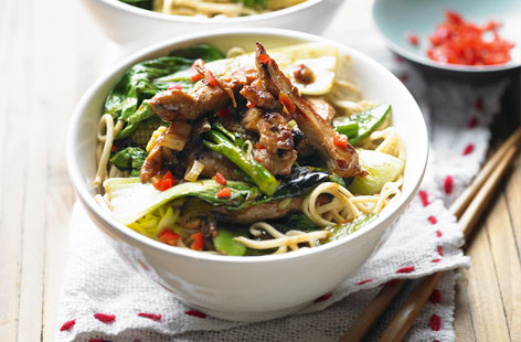 Chilli and ginger pork stir-fry